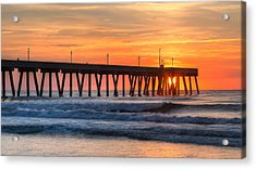 Sunrise On Wrightsville Beach Nc Acrylic Print