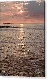 Sunrise Otter Cliffs Acrylic Print by Peter J Sucy