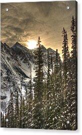 Sunrise Over A Mountain Ridge Acrylic Print