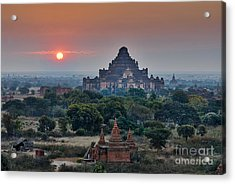 sunrise over Bagan Acrylic Print by Juergen Ritterbach