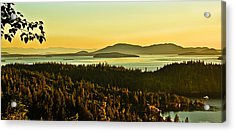 Sunrise Over Bellingham Bay Acrylic Print by Robert Bales
