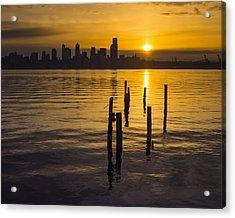 Sunrise Over Elliott Bay Acrylic Print