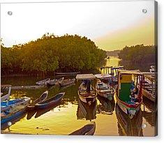 Sunrise Over Gambian Creek Acrylic Print