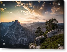 Sunrise Over Half Dome At Glacier Point Acrylic Print