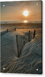 Sunrise Over Hatteras Acrylic Print by Steven Ainsworth