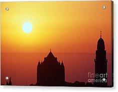 Sunrise Over Jerusalem Acrylic Print by Thomas R Fletcher