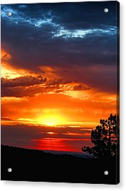 Sunrise Over Keystone Acrylic Print