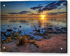 Sunrise Over Lake Michigan Acrylic Print by Scott Norris