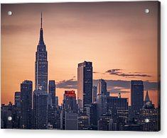 Manhattan Sunrise Acrylic Print
