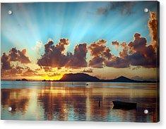 Sunrise Over Marine Corps Base Hawaii Acrylic Print