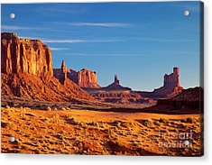 Sunrise Over Monument Valley Acrylic Print