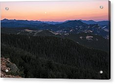 Sunrise Over Moonset Acrylic Print