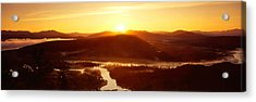 Sunrise Over Mountains, Snake River Acrylic Print by Panoramic Images