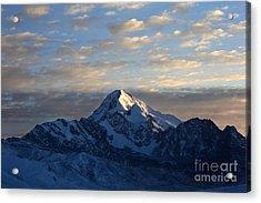 Sunrise Over Mt Huayna Potosi Acrylic Print