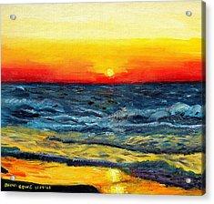 Acrylic Print featuring the painting Sunrise Over Paradise by Shana Rowe Jackson