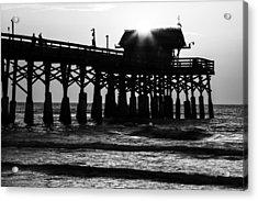 Sunrise Over Pier Acrylic Print