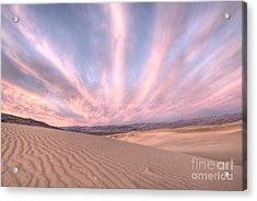 Sunrise Over Sand Dunes Acrylic Print