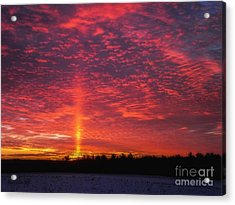 Acrylic Print featuring the photograph Sunrise Over Scandinavia by Trey Foerster