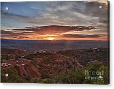 Sunrise Over Sedona With The Jerome State Park Acrylic Print