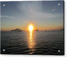 Sunrise Over Ship Acrylic Print