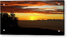Acrylic Print featuring the photograph Sunrise Over The Alps by Charles Lupica