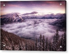 Sunrise Over The Canadian Rockies Acrylic Print