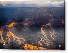 Sunrise Over The Canyon Acrylic Print by Lisa  Spencer
