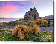 Sunrise Over The Church Of The Good Sheperd Acrylic Print