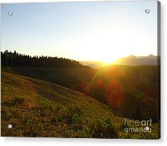 Acrylic Print featuring the photograph Sunrise Over The Cimarrons by Kate Avery