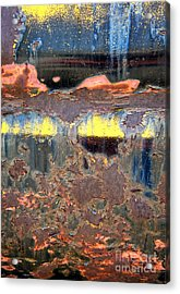Sunrise Over The Lake Abstract Acrylic Print by Lee Craig