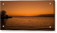 Sunrise Over The Lake Of Two Mountains - Qc Acrylic Print by Juergen Weiss