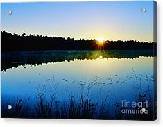 Sunrise Over The Lake Acrylic Print