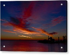 Acrylic Print featuring the photograph Sunrise Over The Port Of Milwaukee by Chuck De La Rosa