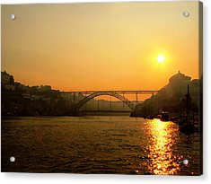 Sunrise Over The River Acrylic Print