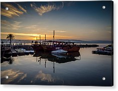 Sunrise Over The Sea Of Galilee Acrylic Print