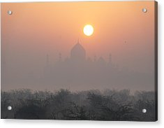 Sunrise Over The Taj Acrylic Print