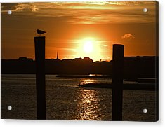 Sunrise Over Topsail Island Acrylic Print by Mike McGlothlen