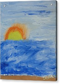 Sunrise Acrylic Print by PainterArtist FINs daughter