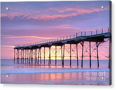 Sunrise Pier Acrylic Print by Colin and Linda McKie
