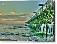 Sunrise Pier Acrylic Print by Ed Roberts