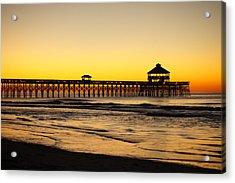 Sunrise Pier Folly Beach Sc Acrylic Print