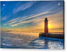 Sunrise Pierhead Acrylic Print