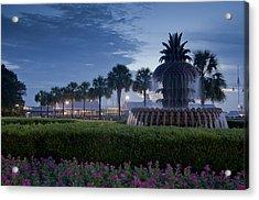 Sunrise Pineapple Fountain Acrylic Print