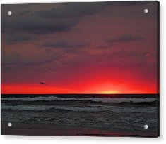 Sunrise Pink Acrylic Print by JC Findley