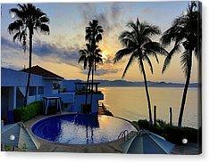 Sunrise, Punta Serena Villas And Spa Acrylic Print by Douglas Peebles