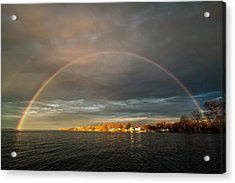 Sunrise Rainbow Acrylic Print by Matt Molloy
