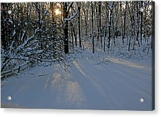 Sunrise Reflected On Snow Acrylic Print