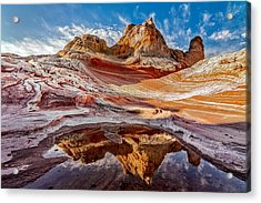 Sunrise Reflection At White Pocket Az Acrylic Print
