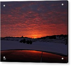 Acrylic Print featuring the photograph Sunrise Reflection by Fiskr Larsen