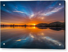 Sunrise Reflection Acrylic Print by Marc Crumpler